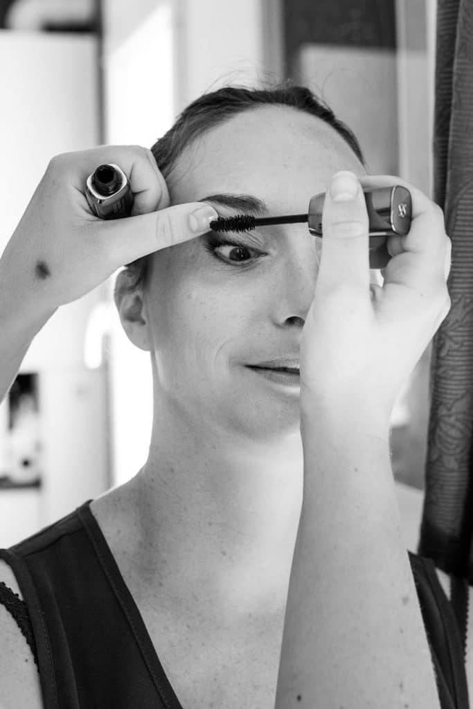 Préparatif-mariage-maquillage-mariée-mascara