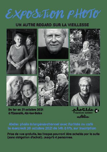 affiche pour exposition photo à Aix les Bains
